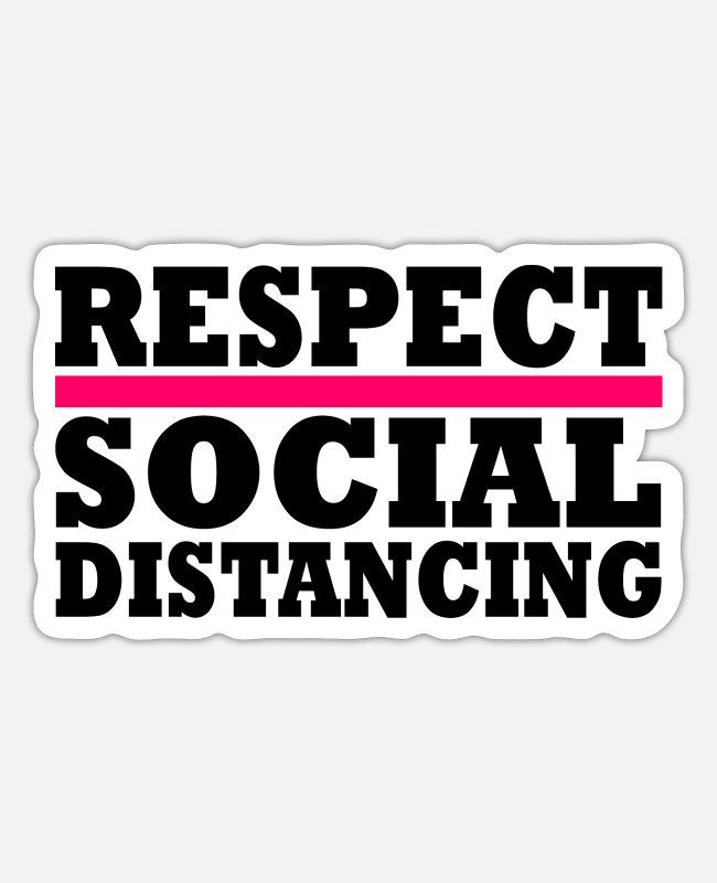 2019 Stickers - social distancing - Sticker white mat