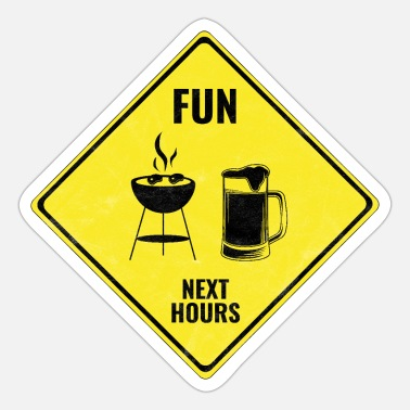 Roadsign Grillen Fun Roadsign - Sticker