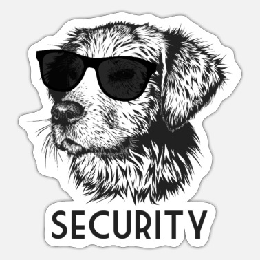 Dog Security dog - Sticker