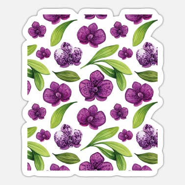 Hand-painted orchids for more color in life! - Sticker