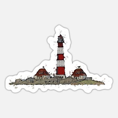Upper Peninsula The Westerhever lighthouse with a difference - Sticker