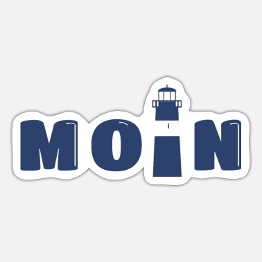 Moin with lighthouse / gift for North Germans - Sticker