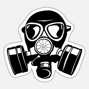 Gas Mask gas mask gas mask Aa - Sticker