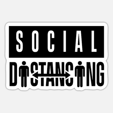 Sociale Sociale afstand - Sticker