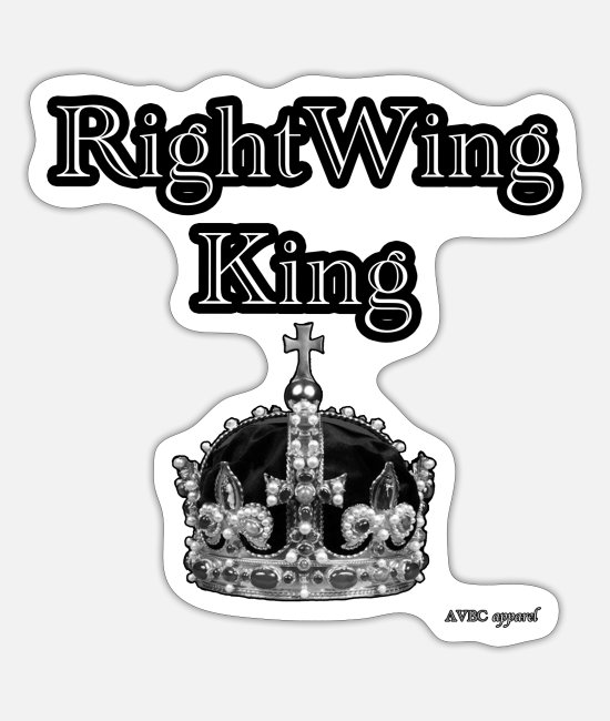 Royal Stickers - Right Wing King - Sticker white mat