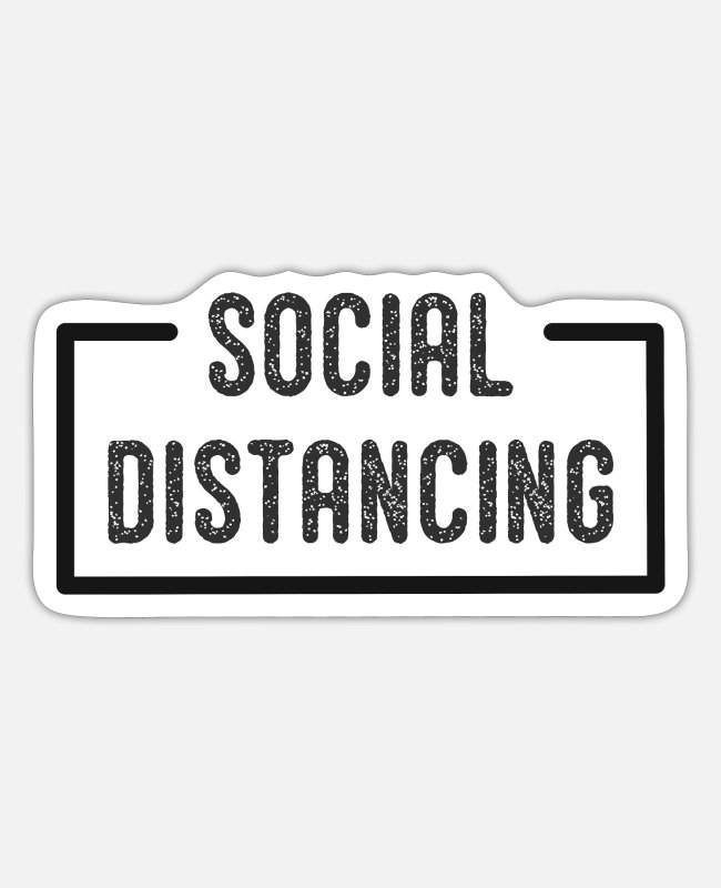 Keep Calm Stickers - Social Distancing - Sticker white mat
