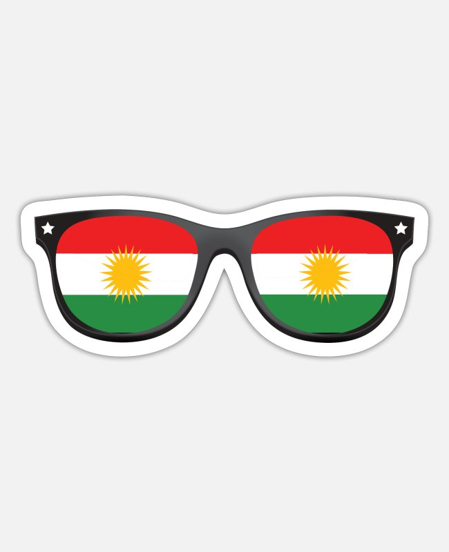 Kurds Stickers - Kurdistan Kurds t shirt gift - Sticker white matte