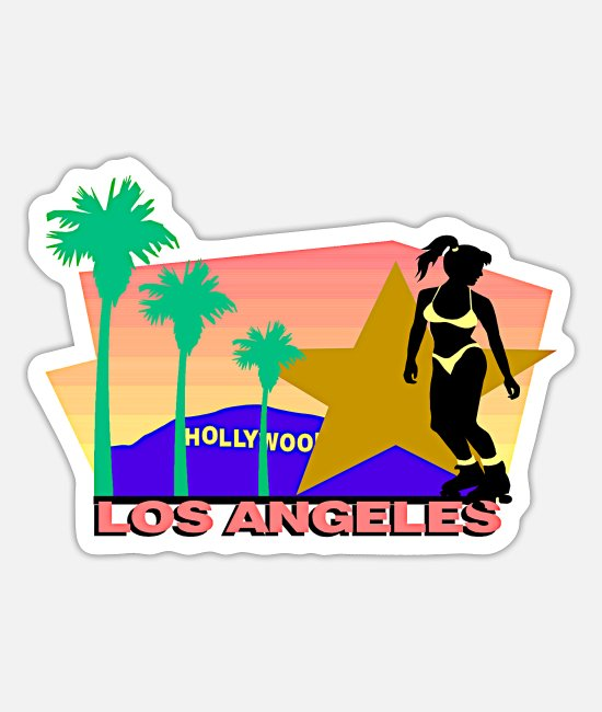 Hollywood Stickers - Los Angeles - Sticker mat wit