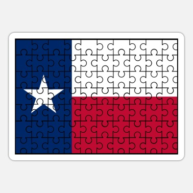 State Flag Texas State Flag Jigsaw - Sticker