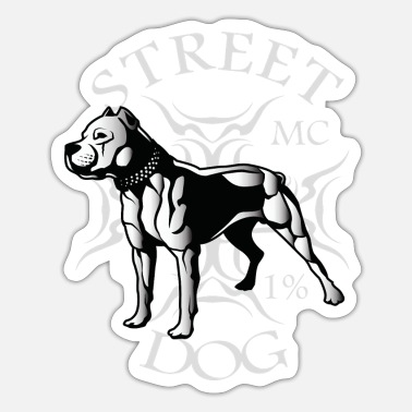 Mc Streets dog MC - Sticker