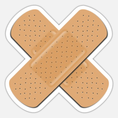 Band Band Aid Cross - Sticker
