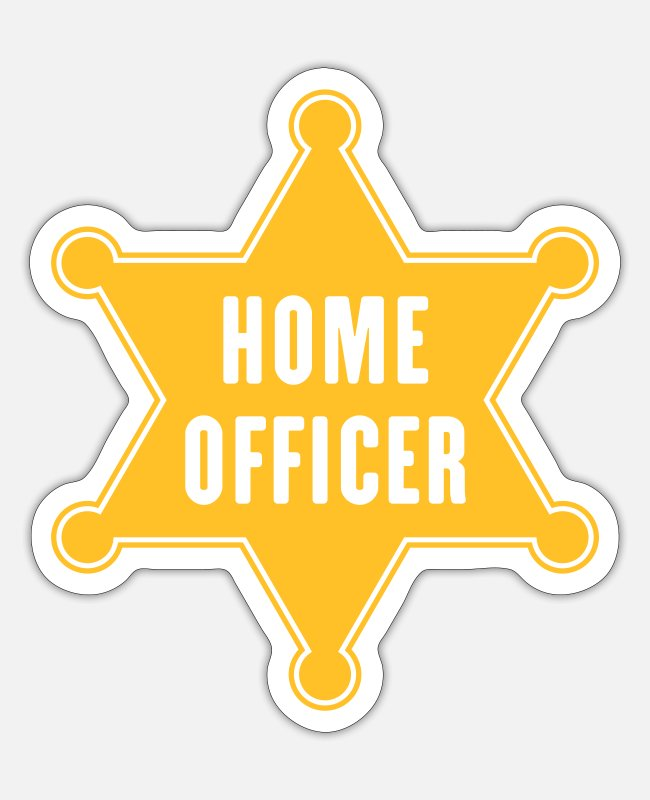 Bless You Stickers - Home Officer (office / profession / workplace) - Sticker white mat