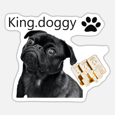 Doggie School king doggy - Sticker