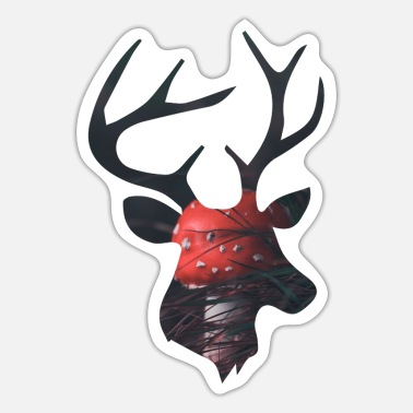 Funges Deer and Red Mushroom - Sticker