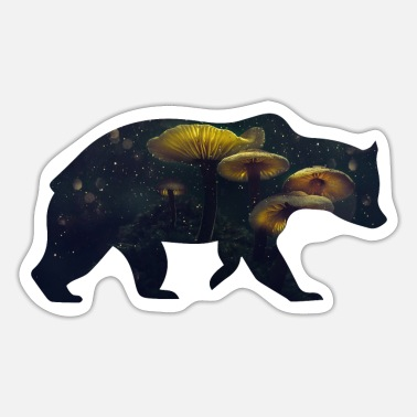 Funges Bear and Mushroom - Sticker