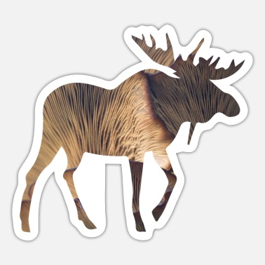 Funges Moose and Mushroom - Sticker