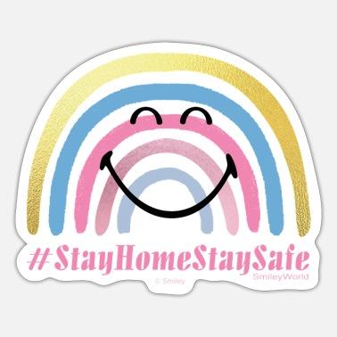 SmileyWorld #StayHomeStaySafe - Sticker