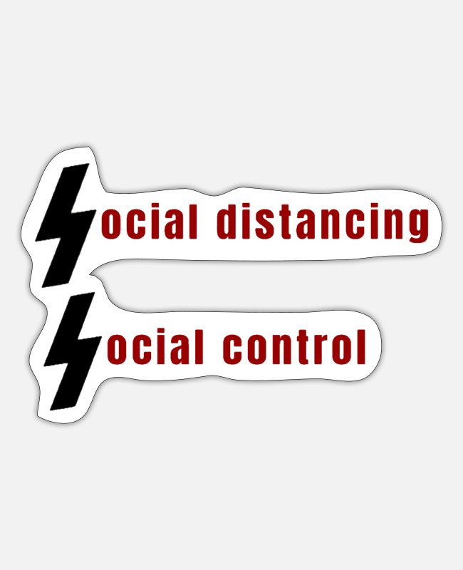 Social Stickers - Social Distancing - Sticker white mat