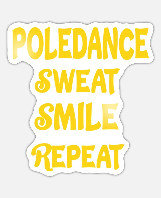 Pole Dance Stickers - Pole dance pole dance burlesque strip gift - Sticker white mat