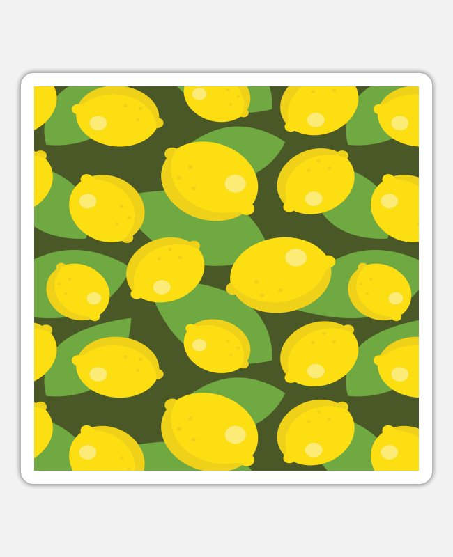 Bikini Pattern Stickers - Pattern fruits - Sticker white matte