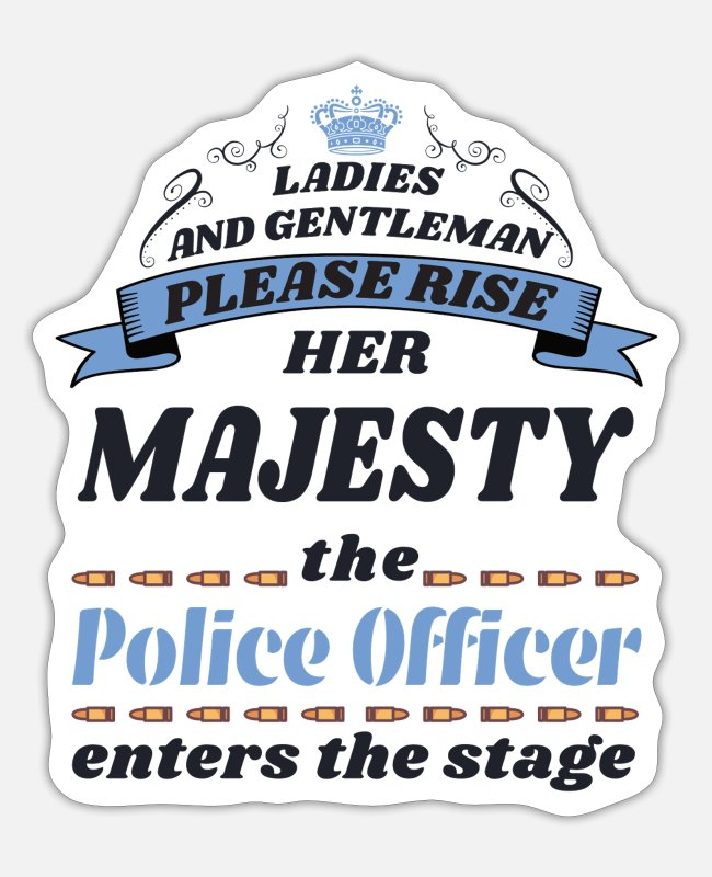 Police Officer Stickers - Police officer - Sticker white matte