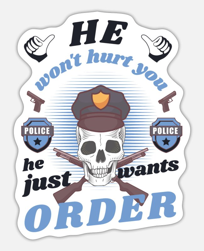 Cop Stickers - police officer - Sticker white matte