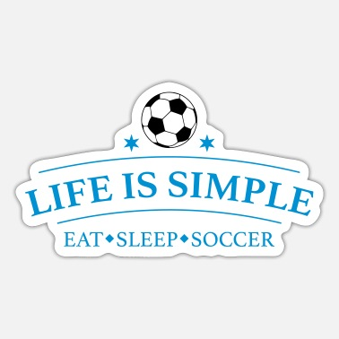 Great design for soccer players - Sticker
