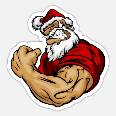 Fitness Muscle Joulupukki Christmas Gym Fitness Bize - Tarra