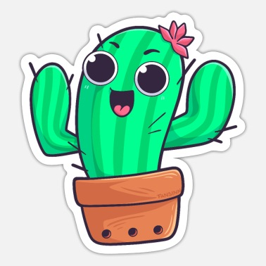 Prickly Cactus plant prickly nature gift - Sticker