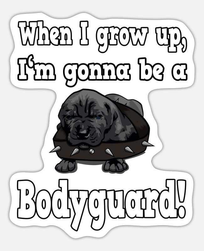 Drawing Stickers - Cane Corso Molosser Mastiff Italian puppy - Sticker white matte