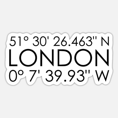 Coordinates London coordinates - Sticker