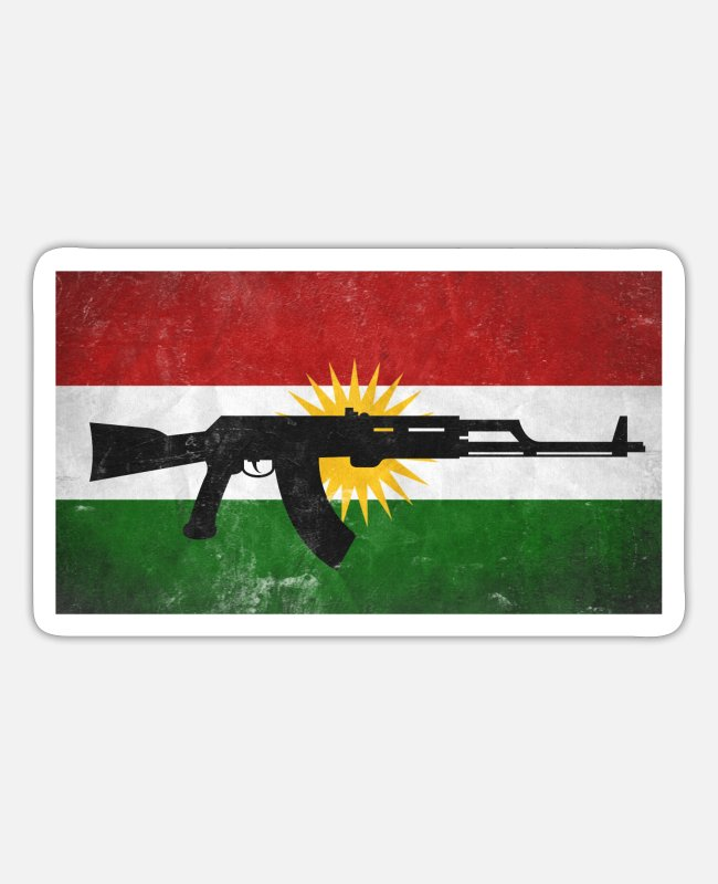Kurds Stickers - Kurdistan Kurds Kurds gift azadi rojava iraq - Sticker white matte