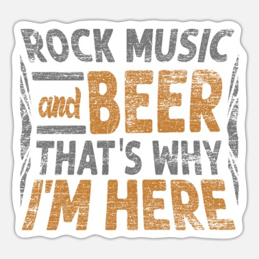 Music Rock music and beer - Sticker