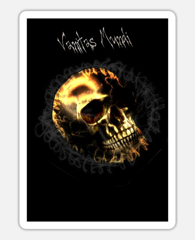 Death Metal Stickers - remember that you are mortal Vanitas dark Goth - Sticker white matte