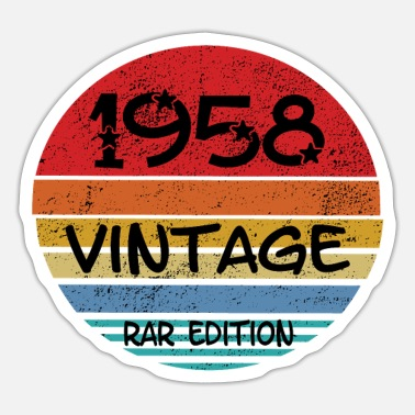 Rar 1958 fødselsår Vintage Rar Edition - Sticker