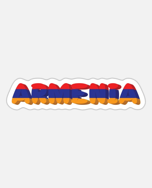 Armenia Stickers - Armenia - Sticker white mat