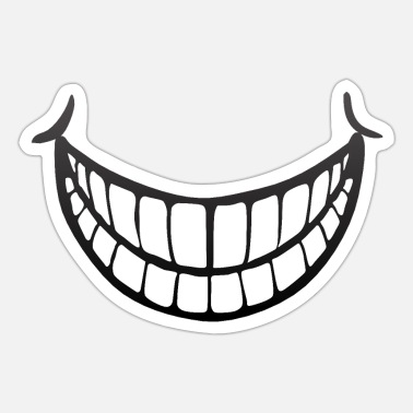 Big Smile smile tooth laugh laugh smile big - Sticker