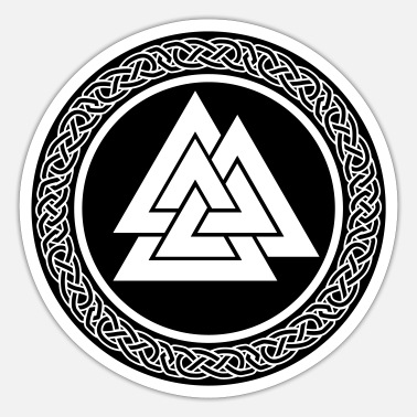 Viking valknut knot - Sticker