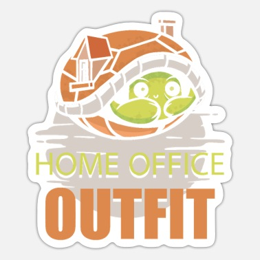 Teleworking Homework virus home office video office teleworking - Sticker