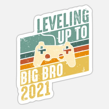 Big Leveling up Big Brother 2021 - Großer Bruder Gamer - Sticker