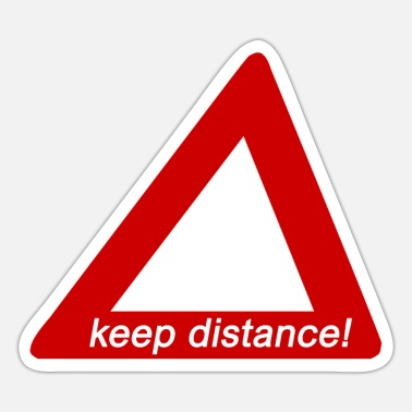 Spreadshirtproducts Keep distance! - Sticker