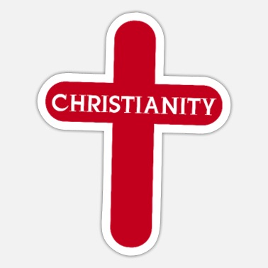 Cross Christianity Cross Christianity - Sticker