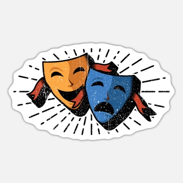 Acting Acting masks - Sticker