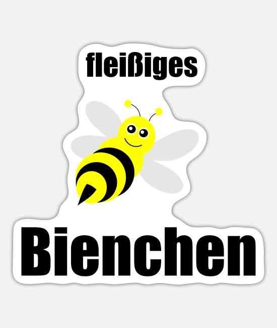 Witz Sticker - fleißiges Bienchen, faule Sau, Partnerlook, Double - Sticker Mattweiß