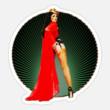 Pin Pinup - Vintage Retro Burlesque Queen 50s Art - Sticker