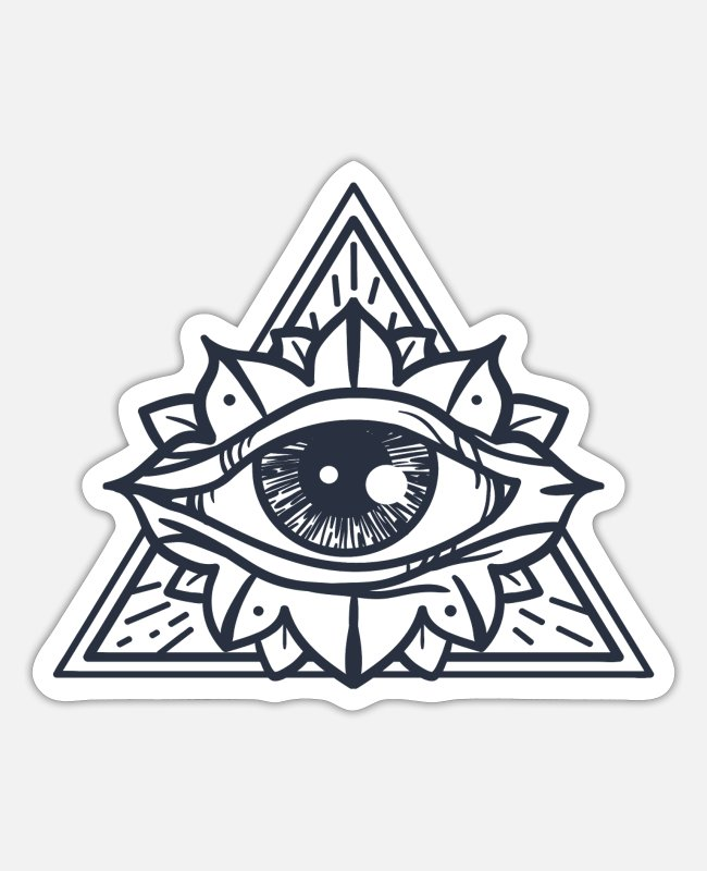 Witchcraft Stickers - tarot shirt & all seeing eye shirt women & men - Sticker white mat