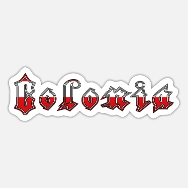 Colonia Colonia red-white [Applesauce10] - Sticker