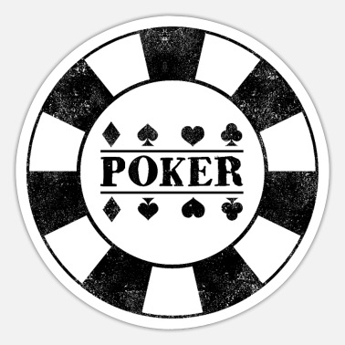 Poker Poker poker kort poker chips - Sticker