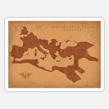 Empire Map of the Roman Empire Map of Roman Empire - Sticker