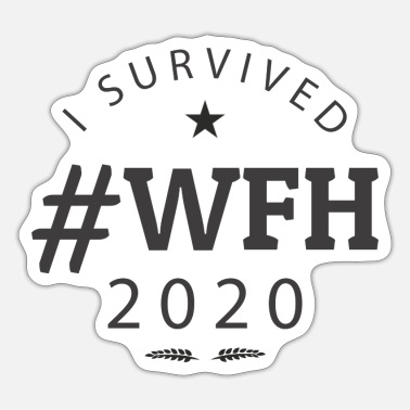 Sondring Jeg overlevede #WFH 2020 - Working From Home Survivor - Sticker